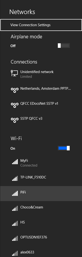 Your new PiFi should now be visible to devices